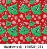 christmas  new year seamless... | Shutterstock .eps vector #1485254081