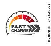 battery charging logo icon....   Shutterstock .eps vector #1485257021