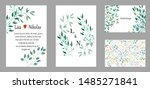 set of creative universal cards ... | Shutterstock .eps vector #1485271841