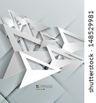 triangle arrow 3d paper design | Shutterstock .eps vector #148529981