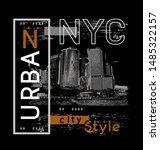 new york street america...   Shutterstock .eps vector #1485322157