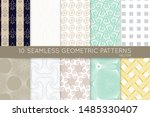 collection of seamless patterns.... | Shutterstock .eps vector #1485330407