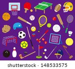 a variety of ball sports | Shutterstock .eps vector #148533575
