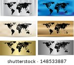 set of grunge world maps | Shutterstock .eps vector #148533887