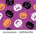 halloween orange festive... | Shutterstock .eps vector #1485366284