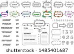 numbers and days of week ... | Shutterstock .eps vector #1485401687