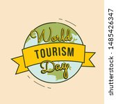 world tourism day free vector... | Shutterstock .eps vector #1485426347