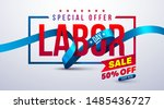 happy labor day poster.usa... | Shutterstock .eps vector #1485436727