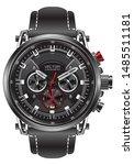 realistic clock watch sport...   Shutterstock .eps vector #1485511181