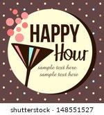 vintage happy hour invitation | Shutterstock .eps vector #148551527