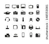 electronic devices set | Shutterstock .eps vector #148553081