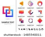 modern shape vector for banner  ... | Shutterstock .eps vector #1485540011