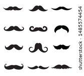 mustache icon set. vector set...   Shutterstock .eps vector #1485574454