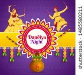 dandiya night party poster or... | Shutterstock .eps vector #1485580211