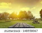 picnic table | Shutterstock . vector #148558067