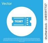 blue ticket icon isolated on... | Shutterstock .eps vector #1485597737