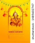 illustration of lord ganapati...   Shutterstock .eps vector #1485602747