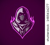Fire Assassin Mascot, Vector Logo Illustration