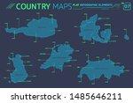 denmark  switzerland  finland ... | Shutterstock .eps vector #1485646211