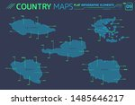 poland  czech republic  austria ... | Shutterstock .eps vector #1485646217