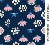 seamless pattern vector floral...   Shutterstock .eps vector #1485654887
