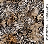 Leopard And Snake Skin Texture...