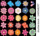 set of creative flowers   Shutterstock .eps vector #148568297