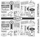 beauty paper pattern. vintage... | Shutterstock .eps vector #148570964