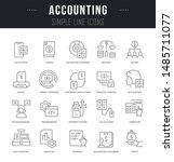 collection linear icons of... | Shutterstock .eps vector #1485711077