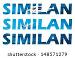 similan text shaped photo's... | Shutterstock . vector #148571279