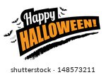 halloween background greeting... | Shutterstock .eps vector #148573211