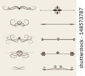 Vector Set  Calligraphic Design ...
