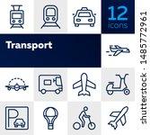 transport line icon set. set of ... | Shutterstock .eps vector #1485772961