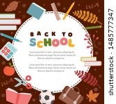 back to school banner or... | Shutterstock .eps vector #1485777347