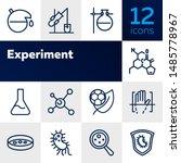 experiment line icon set.... | Shutterstock .eps vector #1485778967