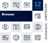 browser line icon set. window ... | Shutterstock .eps vector #1485781904