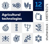 agricultural technologies line... | Shutterstock .eps vector #1485782171