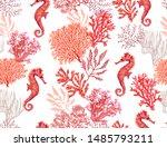 beautiful hand drawn botanical... | Shutterstock .eps vector #1485793211