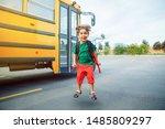 emotional caucasian boy student ... | Shutterstock . vector #1485809297