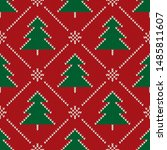 Christmas Knitted Pattern With...