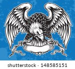 1940-1980,american,animal,arms,bald,banner,bird,coat,crest,culture,design,distressed,drawn,eagle,element