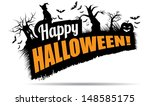 happy halloween title. eps 10... | Shutterstock .eps vector #148585175