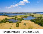 View of the lake uckersee in the Uckermark, germany