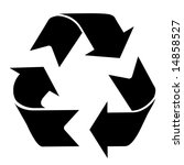 recycle symbol on a solid white ... | Shutterstock . vector #14858527