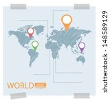 world map vector illustration | Shutterstock .eps vector #148589129