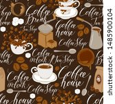 vector seamless pattern on of... | Shutterstock .eps vector #1485900104
