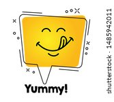 tasty smile emoticon with... | Shutterstock .eps vector #1485942011