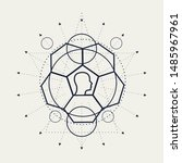 mystical geometry symbol.... | Shutterstock . vector #1485967961