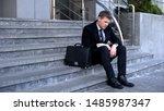 Sad Man In Business Suit...