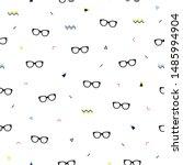 glasses eyes seamless pattern...   Shutterstock .eps vector #1485994904